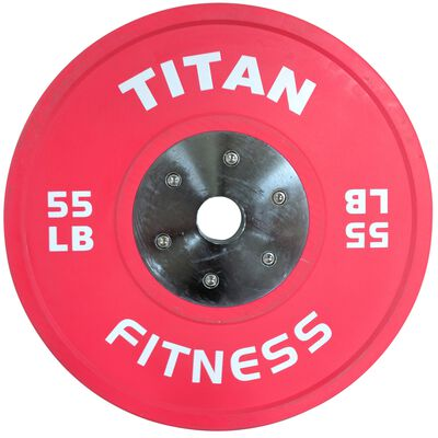 Elite Olympic Bumper Plates | Color | 55 LB Single | SKU: 430185