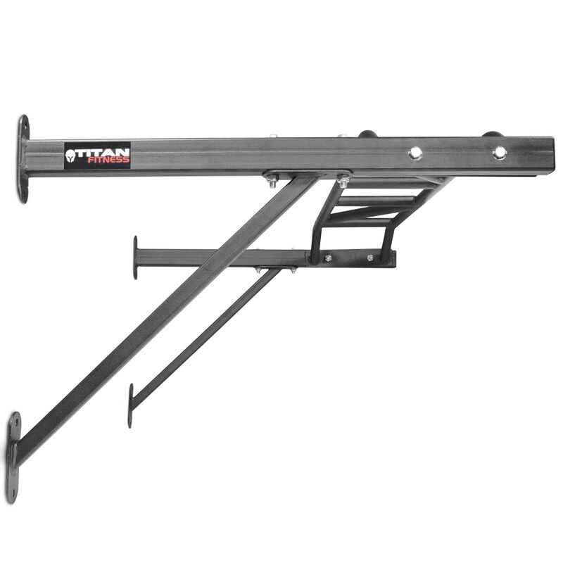 "Titan Fitness HD Multi Grip Wall Mounted Pull Up Bar Chin Up Steel 48"" Wide Grip"
