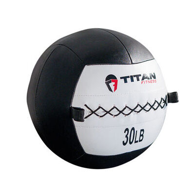 30 LB Soft Leather Medicine Wall Ball
