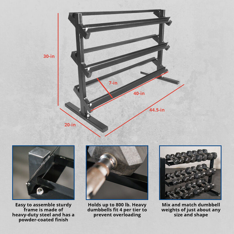 3 Tier Dumbbell Weight Rack
