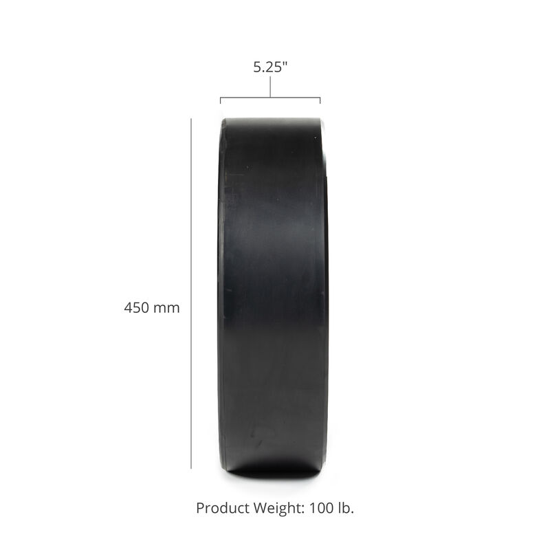 100 LB Single Economy Black Bumper Plate