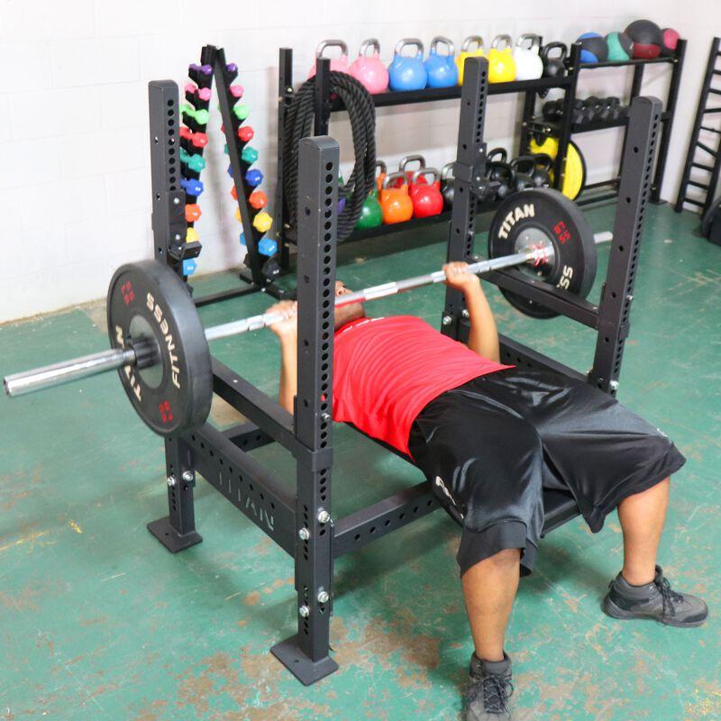 Bench Press Rack w/ Flip Down Safeties