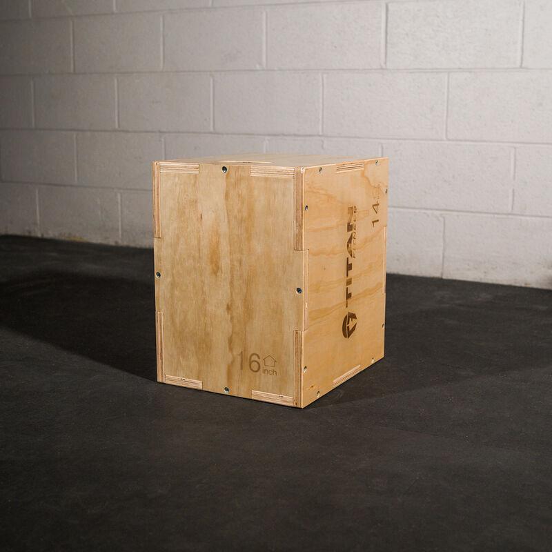 3-in-1 Wooden Plyometric Box – 12-in. 14-in. 16-in.
