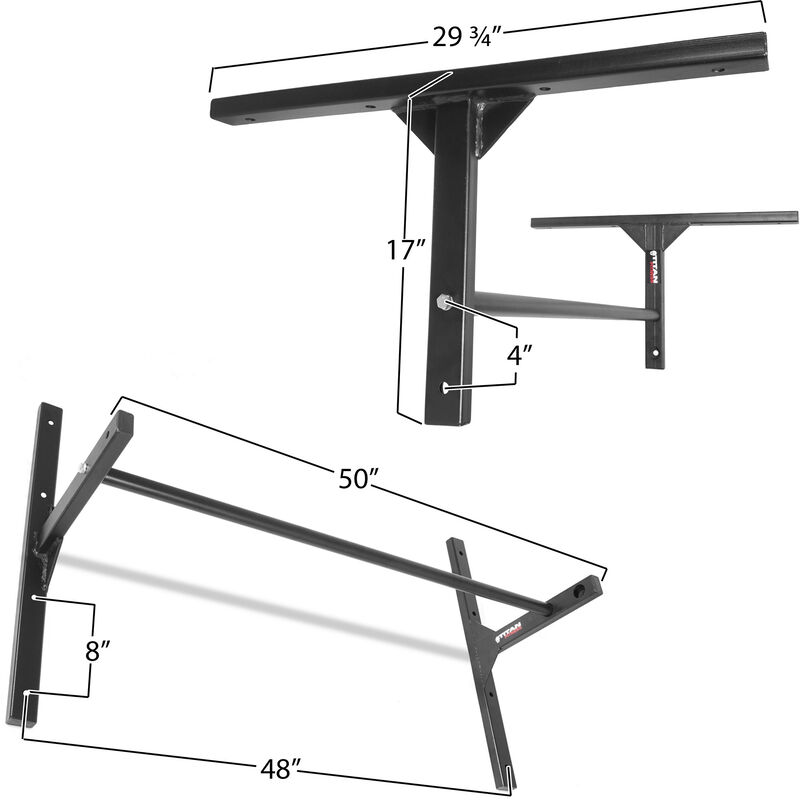 47-in Adjustable Wall Mounted Pull Up Bar