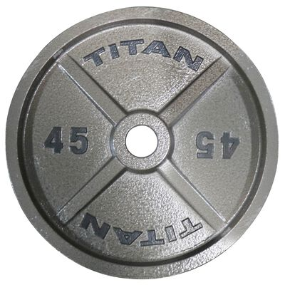 Cast Iron Olympic Weight Plates   45 LB Single