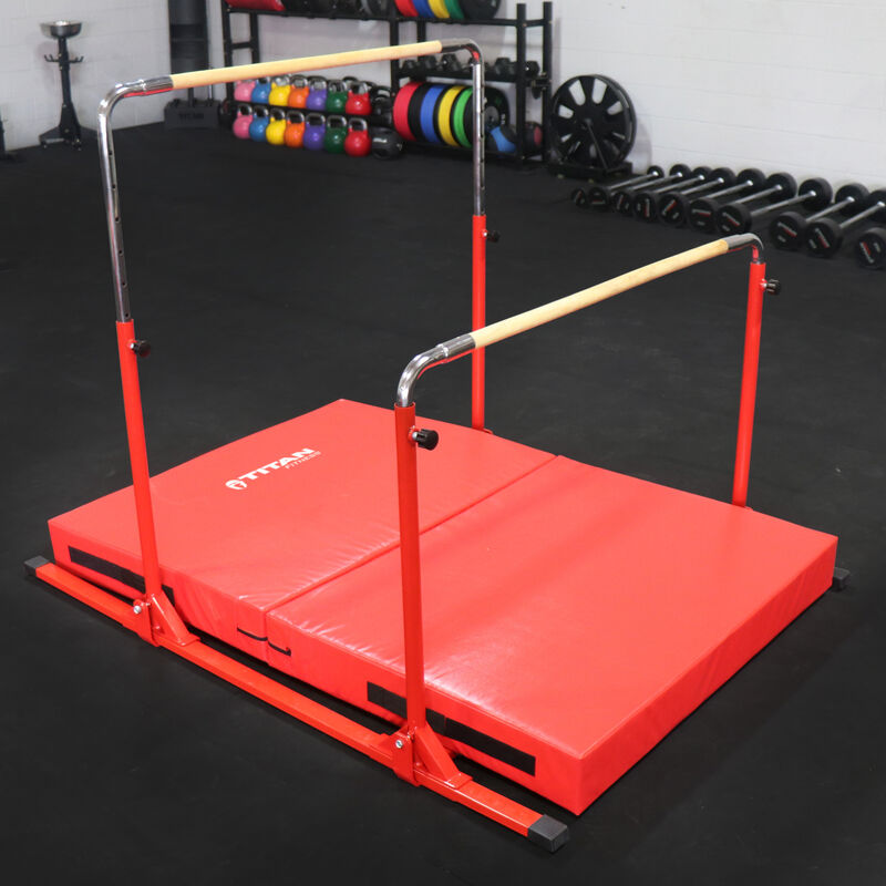 6 FT x 4 FT x 6-in Jr. Gymnastics 5-in-1 Bar & Mat Combo
