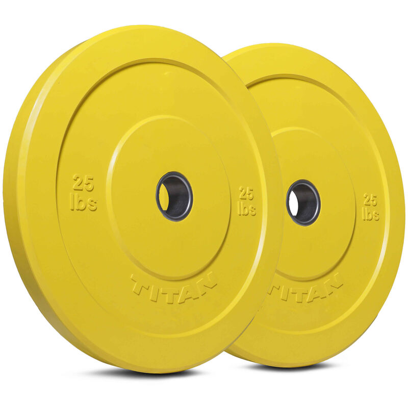 25 LB Pair Color Olympic Rubber Bumper Plates