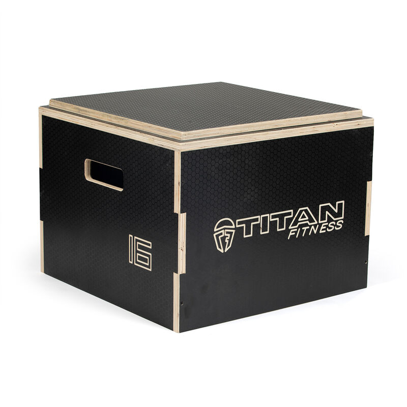 16-in Stackable Wooden Plyometric Box