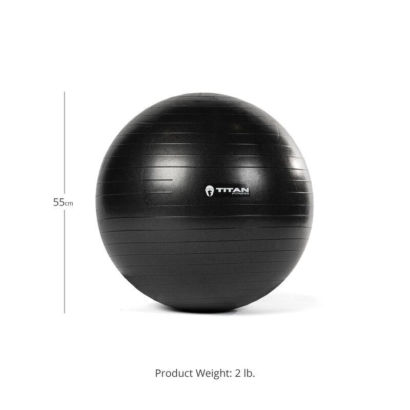 55 cm Black Exercise Stability Ball