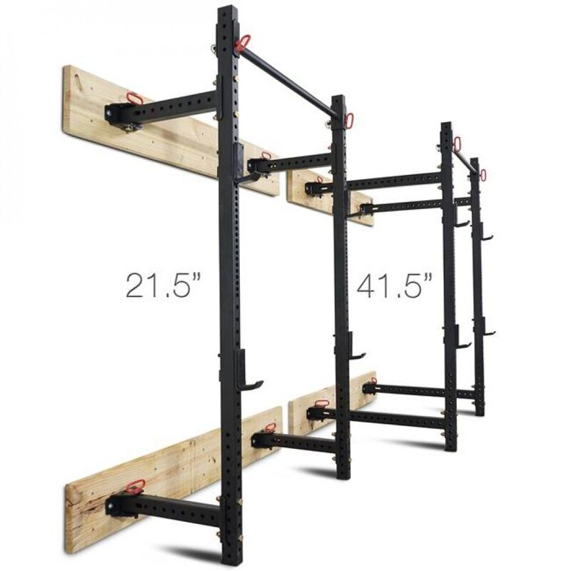 T-3 Series Tall Folding Power Rack And Flat Bench Combo – 21.5-in Depth V2
