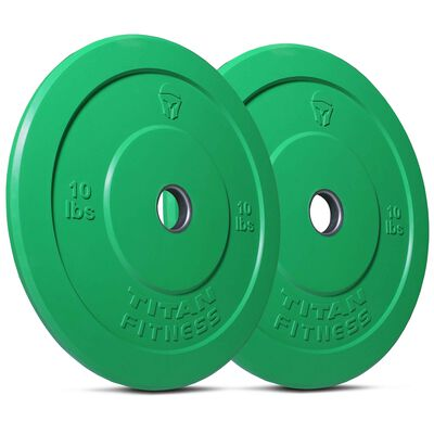 10 LB Pair Color Olympic Rubber Bumper Plates