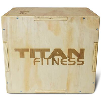 "Titan Fitness 16"" 20"" 24"" Wood Plyometric Box HD Plyo Box Jump Exercise Training"