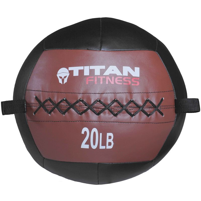 20 lb. Soft Medicine Wall Ball – Leather