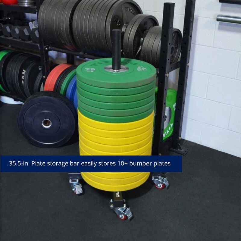 Vertical Weight Plate Storage With Wheels V2