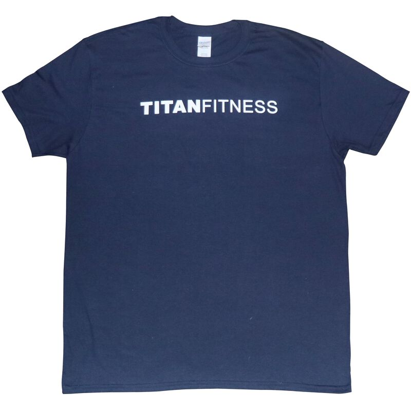 Titan Fitness T-Shirt | Navy Flag | Adult Large