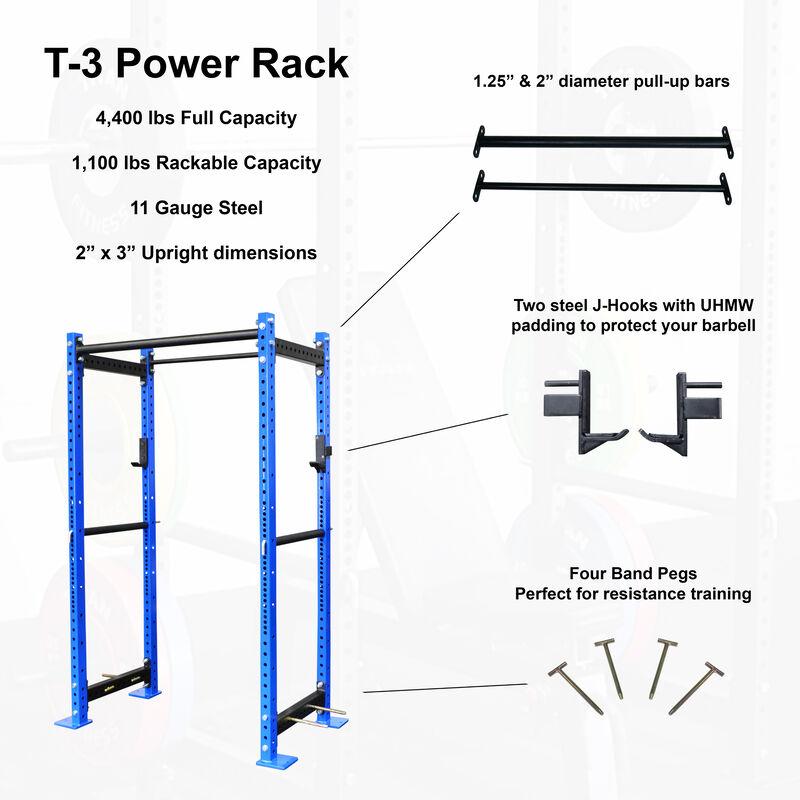 "T-3 Series Tall Power Rack | 24"" Depth | Royal Blue"