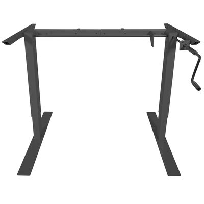 Black Hand Crank Adjustable Sit to Stand S5 Desk Frame