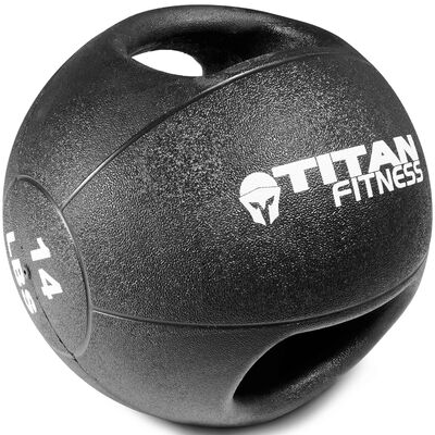 14lb Dual Grip Medicine Ball