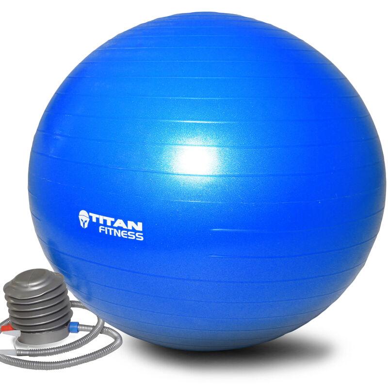 55cm Anti Burst Yoga Stability Exercise Ball w/ Pump Blue
