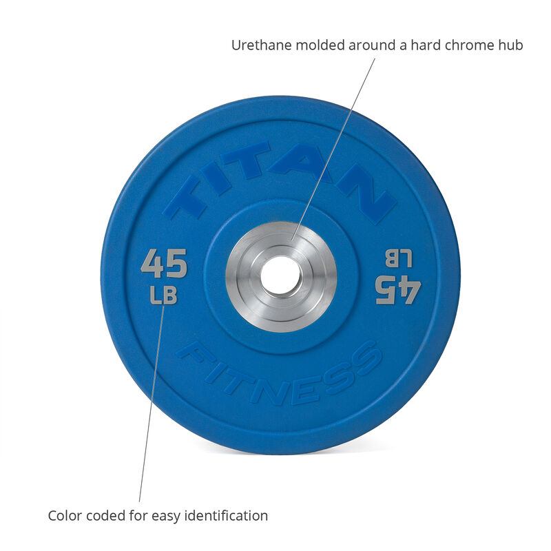 45 LB Single Color Urethane Bumper Plate
