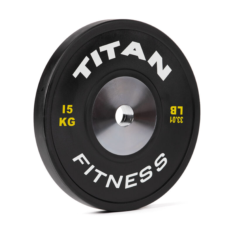 15 KG Single Elite Black Olympic Bumper Plate