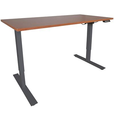 "A2 Single Motor Sit/Stand Desk w/ Wood 30""x60"" Top Conversion"