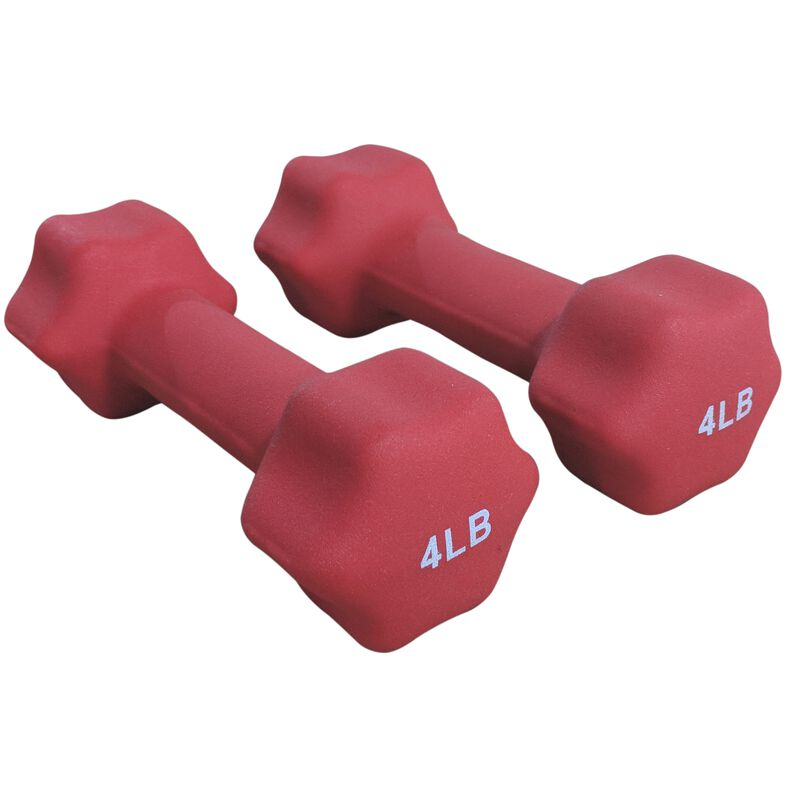 Neoprene Light Weight Dumbbell Set - 1, 2, 3 , 4 LB