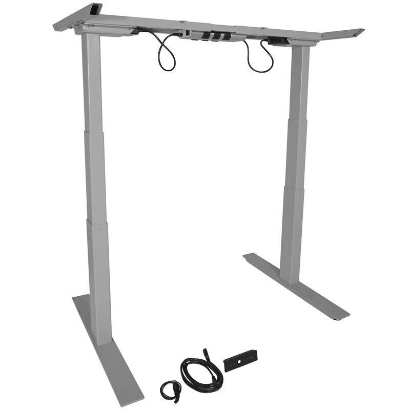 Enjoyable Dual Motor Electric Adjustable Height A6 Sit Stand Desk Download Free Architecture Designs Grimeyleaguecom