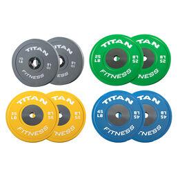 230 LB Set Elite Color Bumper Plates
