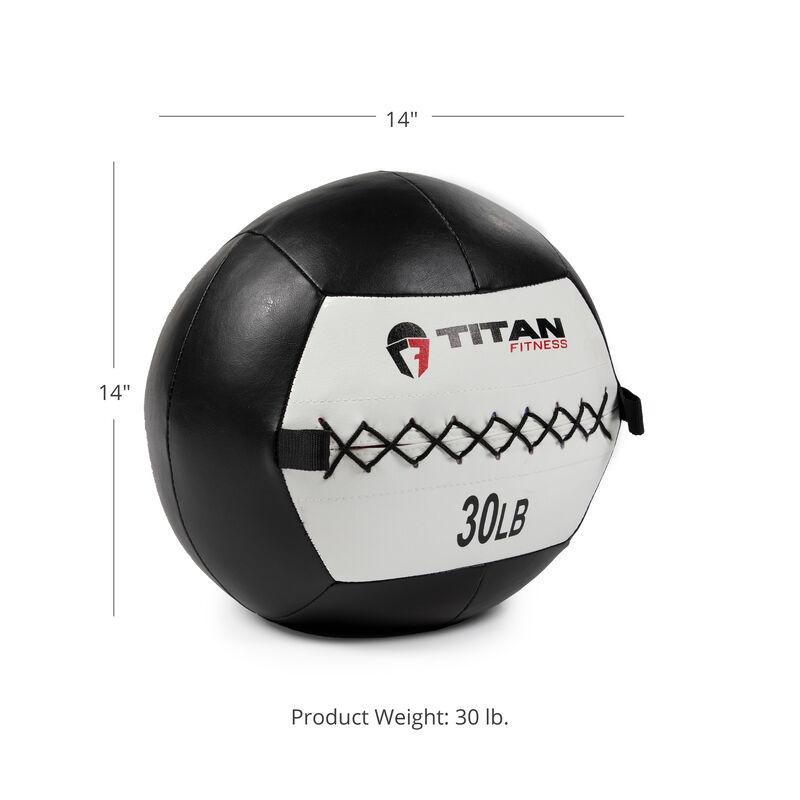 30 LB Soft Leather Medicine Wall Ball