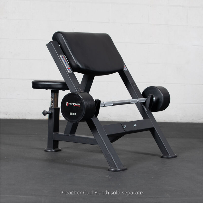 110 LB Straight Rubber Fixed Barbell