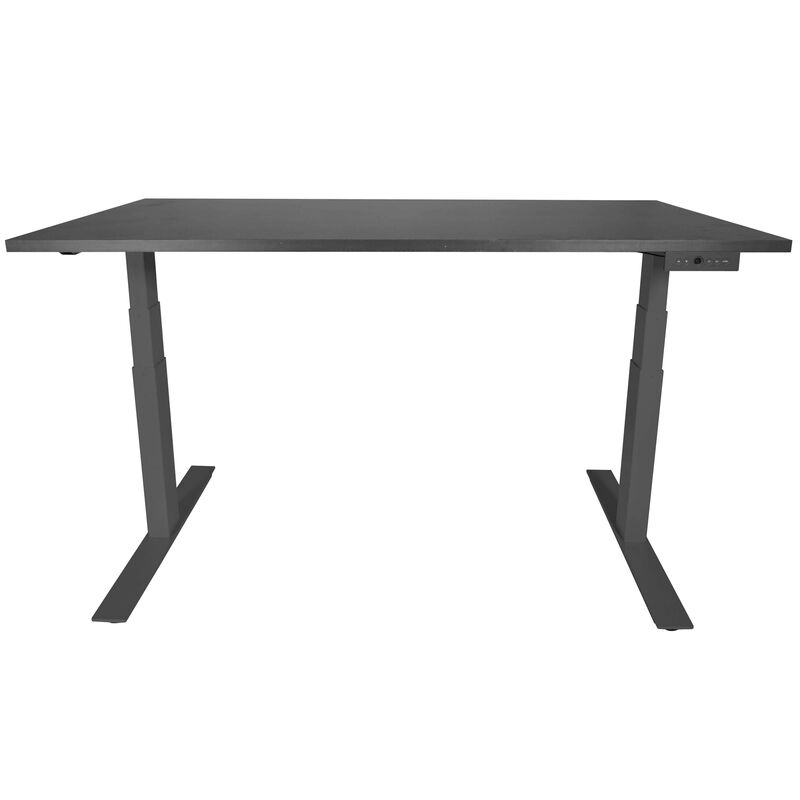 "A6 Adjustable Sit To Stand Desk 24""- 50"" w/ Black 60"" x 30"" Top"