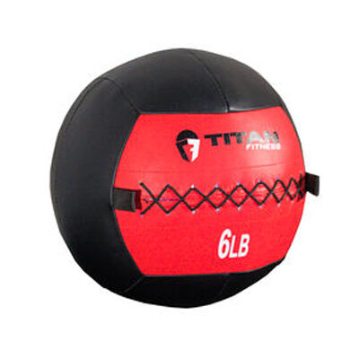 6 LB Soft Leather Medicine Wall Ball