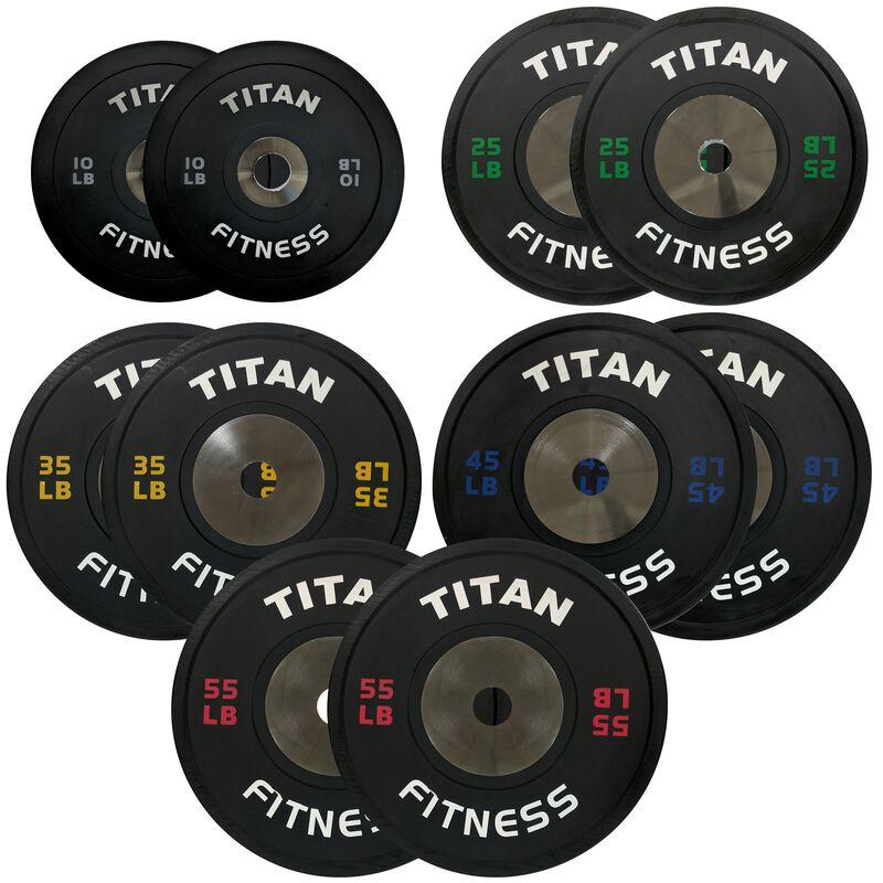 Elite Olympic Bumper Plates | Black | 340 LB Set