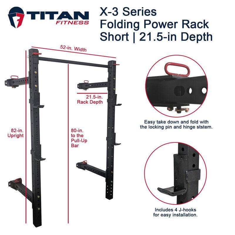 X-3 Series Short Folding Power Rack – 21.5-in Depth
