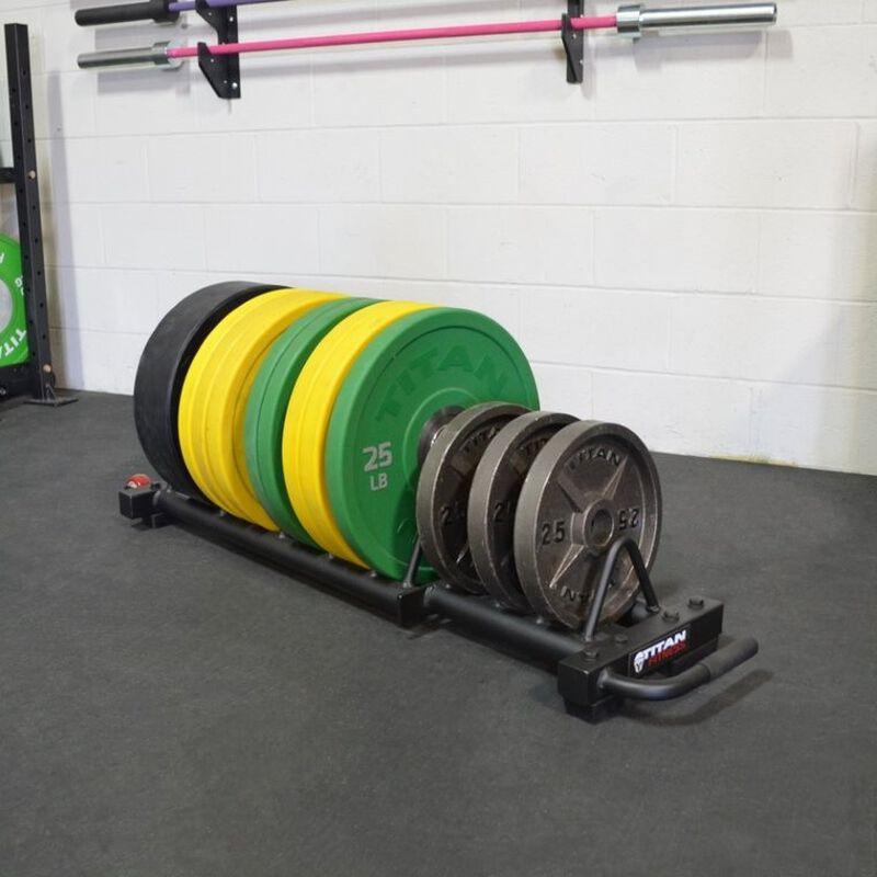 Horizontal Weight Plate Storage w/ Wheels