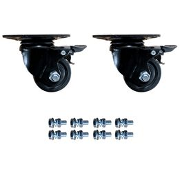 2 Pack Caster Wheels For Mass Storage System