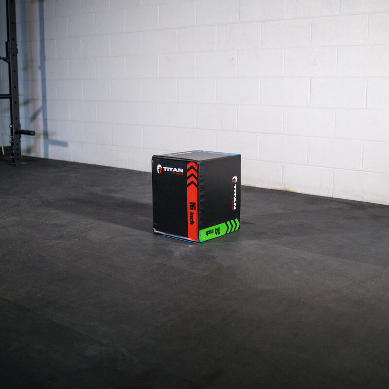 3-In-1 Heavy Foam Plyometric Box – 12-in x 14-in x 16-in