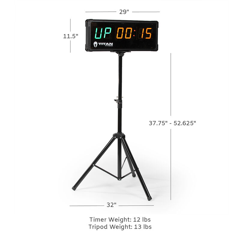 2-Sided Gym Timer With Remote And Tripod Stand