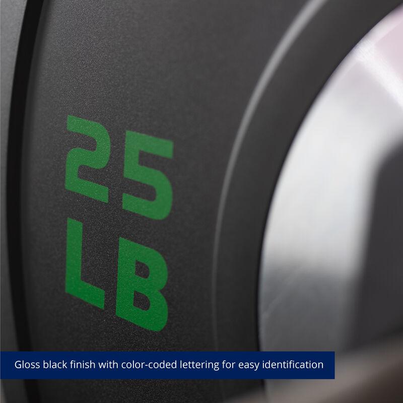 25 LB Pair Elite Black Bumper Plates