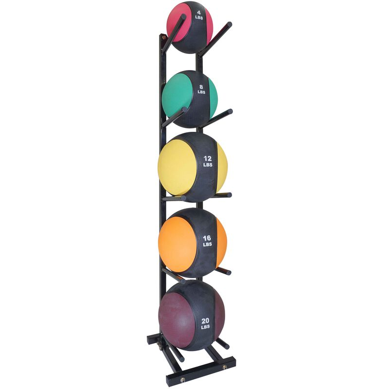 Medicine Ball Storage Tree Holds 5 for Strength Training