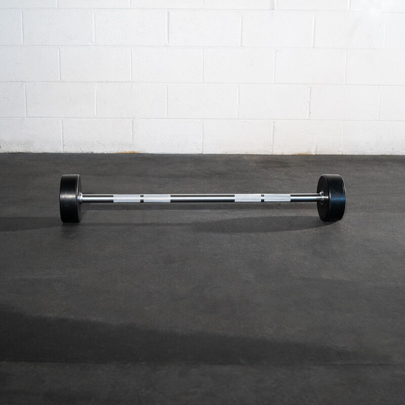 Rubber Fixed Barbell | Straight | 50 LB