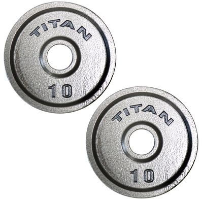 Cast Iron Olympic Weight Plates   10 LB Pair