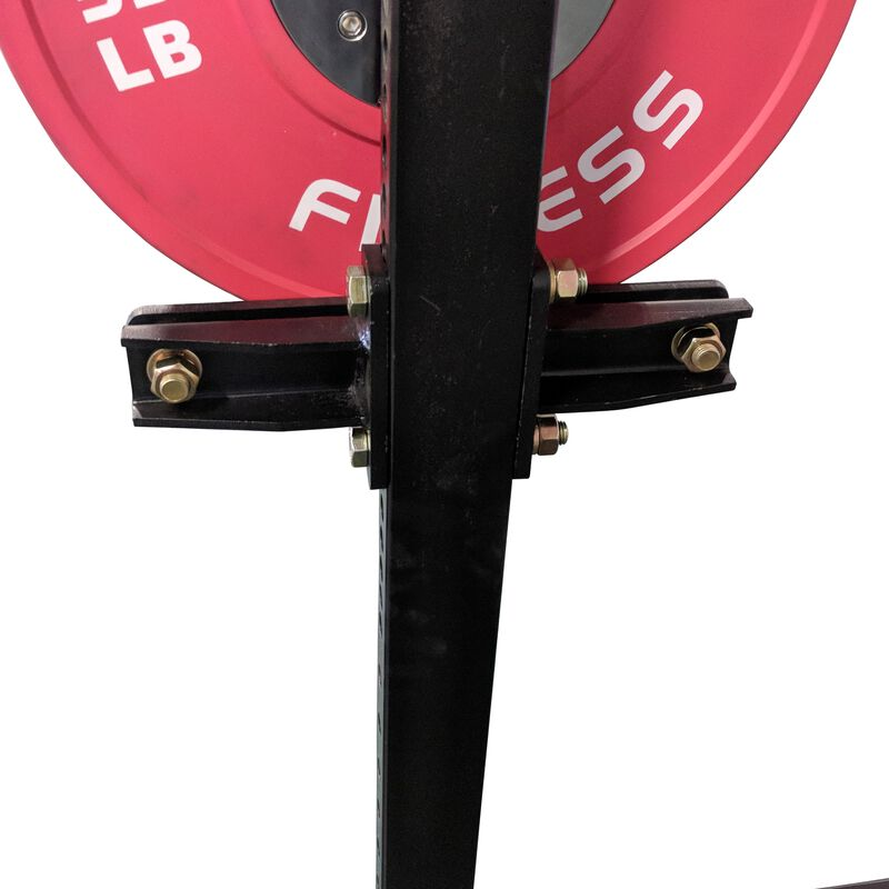 "70"" Wall Mount Rig Medicine Ball and Bumper Plate Storage Shelf"