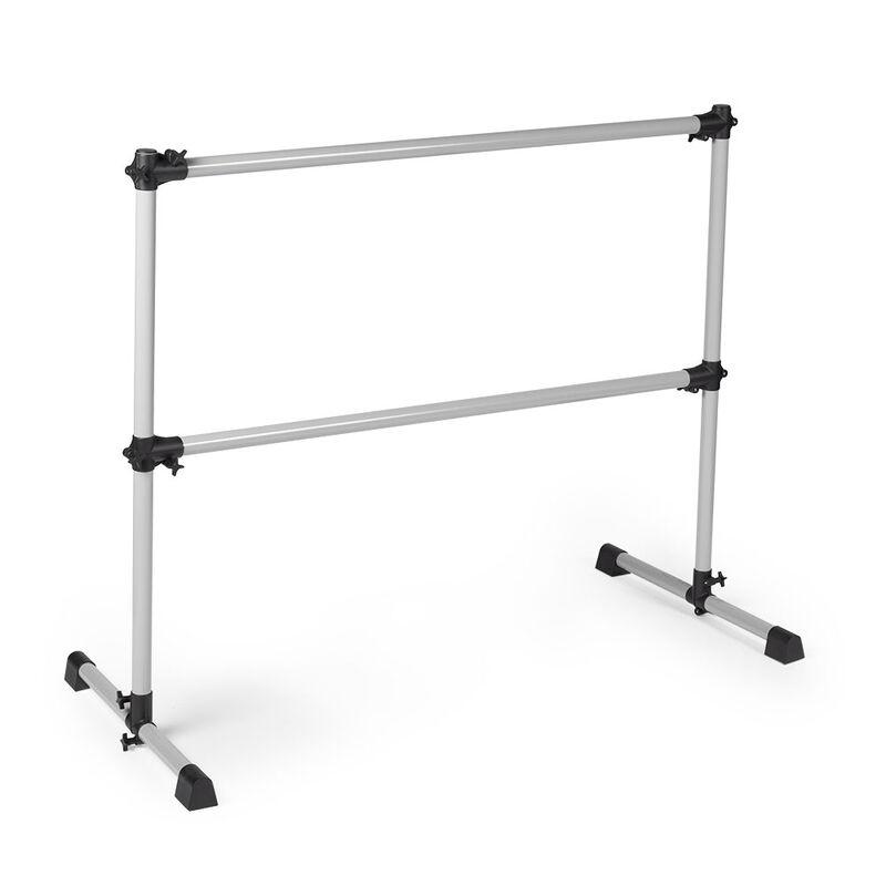 Double Freestanding Ballet Barre | White Aluminum
