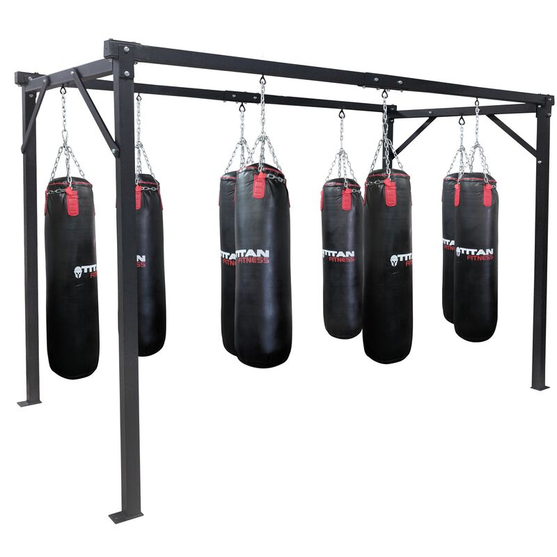 Heavy Duty 8 Bag Boxing Stand | Bolt Down