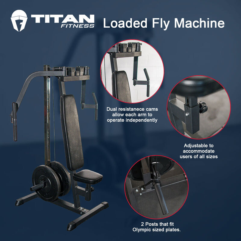 Plate Loaded Fly Machine | Chest, Back, Shoulder Training