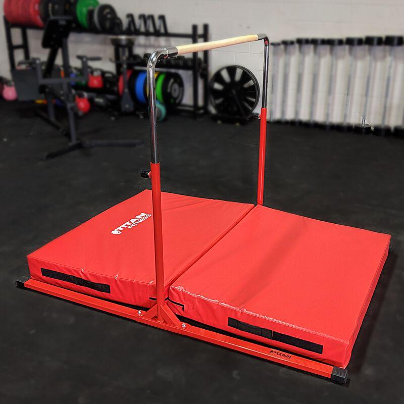 "Jr. Gymnastics Kip Bar & Mat Combo | 6' x 4' x 6"""