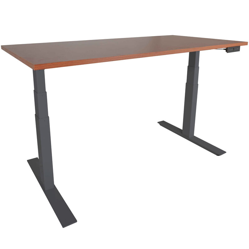 "A6 Adjustable Sit To Stand Desk 24""- 50"" w/ Wood 60"" x 30"" Top"