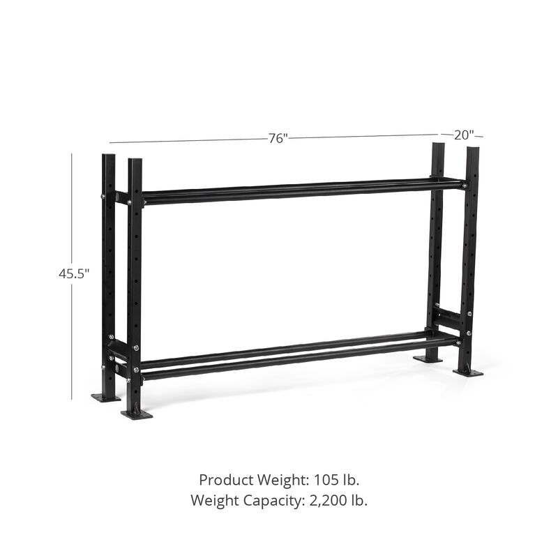 45.5-in 2-Tier Mass Storage System with 70-in Shelves